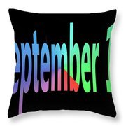 September 12 Throw Pillow
