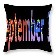 September 17 Throw Pillow