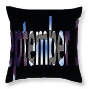 September 18 Throw Pillow