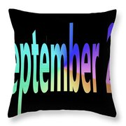 September 20 Throw Pillow