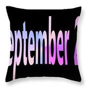 September 22 Throw Pillow