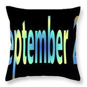 September 23 Throw Pillow