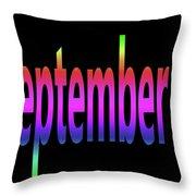 September 3 Throw Pillow