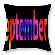 September 4 Throw Pillow