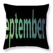 September 7 Throw Pillow