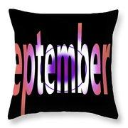 September 9 Throw Pillow