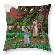 September Throw Pillow by Edmund Blair Leighton