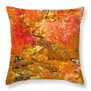 September Leaves Throw Pillow