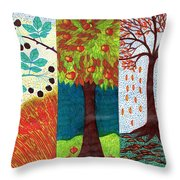 September October November Throw Pillow