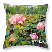 September Roses Throw Pillow