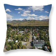 September Skies Over Crested Butte Throw Pillow