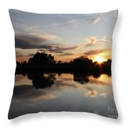 September Sunset In Prosser Throw Pillow