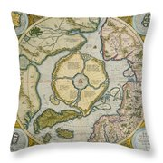 Septentrionalium Terrarum Descriptio Throw Pillow