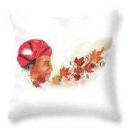 Seqouyahs Gift To The Cherokee Throw Pillow
