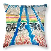 Sequential Development Of The Refugees  Throw Pillow