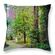 Sequoia Park #1 Throw Pillow