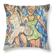 Serena And Venus Williams Throw Pillow