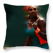 Serena Getting It Done Throw Pillow