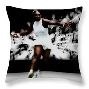 Serena Williams Putting On A Show Throw Pillow