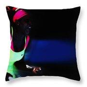 Serena Williams Triumpant Throw Pillow