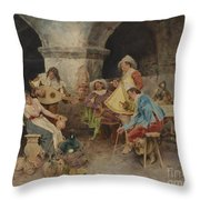Serenade In The Tavern Throw Pillow
