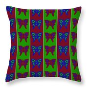 Serendipity Butterflies Blueredgreen 14of15 Throw Pillow