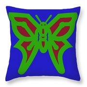 Serendipity Butterflies Blueredgreen 6of15 Throw Pillow