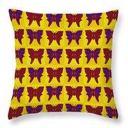 Serendipity Butterflies Brickgoldblue 26 Throw Pillow