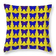 Serendipity Butterflies Brickgoldblue 27 Throw Pillow