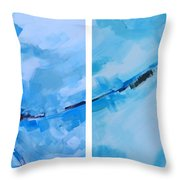 Entangled No.7 - Abstract Painting Throw Pillow