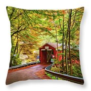 Serendipity - Painted 2 Throw Pillow