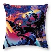 Serene Starry Night Throw Pillow