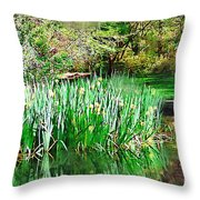 Serene Iris Throw Pillow