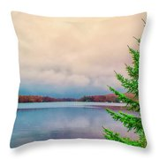 Serene Lake Harmony Throw Pillow
