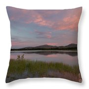 Serene Lake Throw Pillow