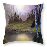 Serene Nightscape Throw Pillow