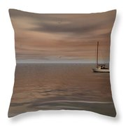 Serene Sail Throw Pillow