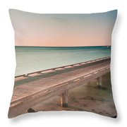 Serene Seascape At Sunrise Throw Pillow by Julis Simo