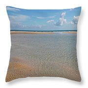 Serene Tidal Pool By The Sea Throw Pillow