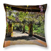 Serene Walkway  Throw Pillow
