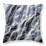 Serene Waterfall Throw Pillow