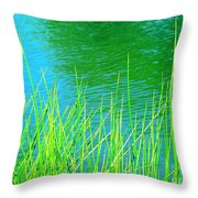 Serenely Aqua Throw Pillow