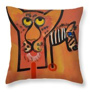 Serengeti Cat Throw Pillow