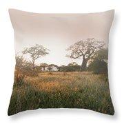 Serengeti Sunrise Throw Pillow