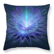 Serenity Abstract Fractal Throw Pillow