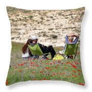 Serenity At Lachish Throw Pillow