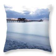Serenity At Naples Pier Throw Pillow