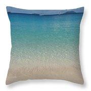 Serenity At Trunk Bay  Throw Pillow