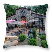 Serenity Cellars Winery Throw Pillow
