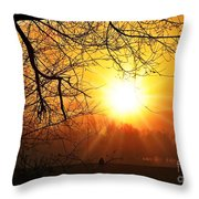 Serenity Dawns Throw Pillow